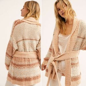 Free People Cozy Cabin Belted Cardigan Size XS